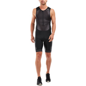 2XU Perform Combinaison avec avec zip frontal Homme, black/shadow
